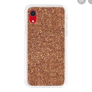 Gold glitter iPhone XR case